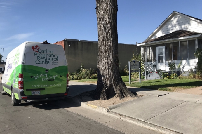 The Brush, CO, center and A Caring Pregnancy Resource Center of Northeast Colorado's mobile unit