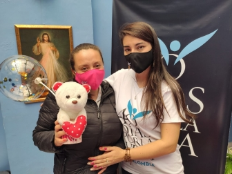 """Rosa"" and 40 Days for Life volunteer"