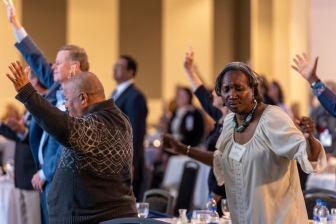 Praise and worship at Heartbeat's Annual Pregnancy Help Conference
