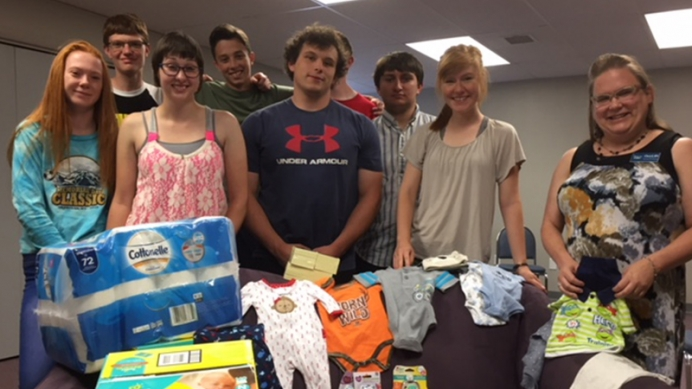 Through a series of bake sales, the Boyd Avenue Baptist Church's youth group raised money for True Care Women's Resource Center in Casper, Wyoming in June.