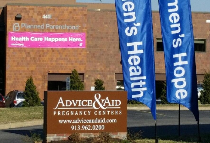 Advice & Aid serves women with free, life-saving help next door to a Planned Parenthood that only provides abortions.