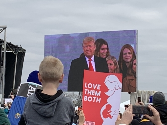 President Donald Trump speaks at the 2020 march for Life