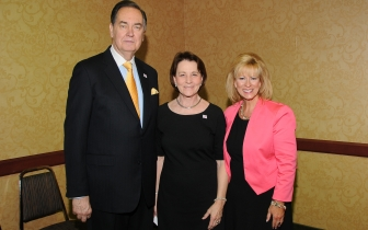 Springfield Pregnancy Care CEO Cindi Boston (R) with columnist Cal Thomas and Heartbeat International President Peggy Hartshorn, Ph.D.