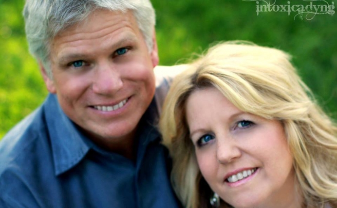 Diedre Eckle, 56, with her husband of 35 years, John. Diedre was killed in a motorcycle accident Aug. 3