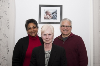 Futures Pregnancy Care is a church-backed, pro-life pregnancy support center located in downtown Lyndonville. Shown are staffers, from left, client advocate Deanna Stephens, executive director Carmen Menard, and board chairman Joel Battaglia