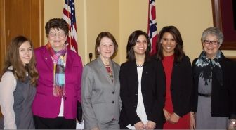 ORTL team with pro-life leaders, Senator Lehner, Peggy Hartshorn and Judy Schlueter