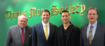 Daleiden with Thomas More Society attorneys Tom Brejcha, Peter Breen and Matthew Heffron