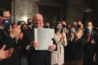 South Carolina Gov. Henry McMaster signs the South Carolina Fetal Heartbeat and Protection from Abortion Act