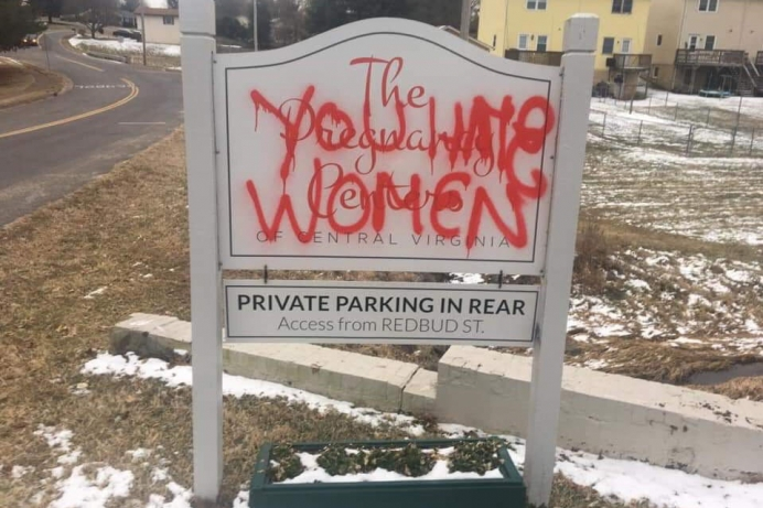 Virginia Pregnancy Center Vandalized After Radical Abortion Bill Is Defeated