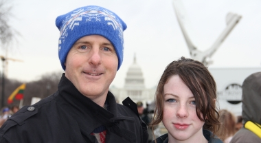 Gary Thome and his daughter, Amanda, at the 2013 March for Life