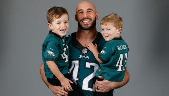 Chris Maragos with his sons, Micah and Mason