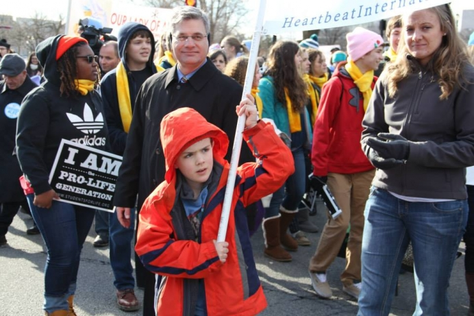 Heartbeat International president Jor-El Godsey looks on at the 2015 March For Life in Washington, D.C.