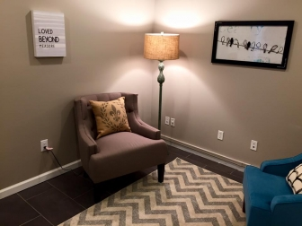 "The sign in the counseling room at Pregnancy Care Center: ""Love Beyond Measure."""