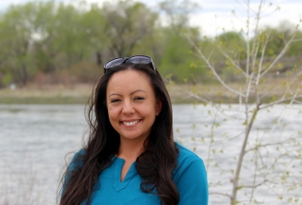Kayla near the North Platte River in Casper, WY