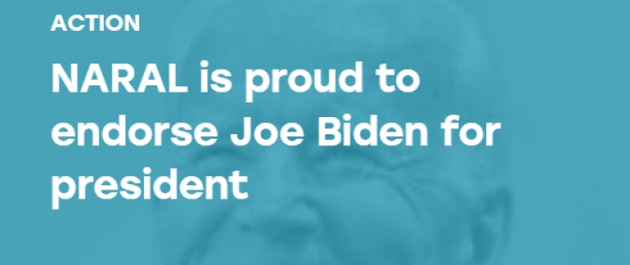 Joe Biden endorsed by pro-abortion NARAL