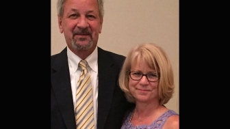 Sherri Daume, director of client services at A Woman's Pregnancy Center in Tallahassee, Florida, with her husband Dan