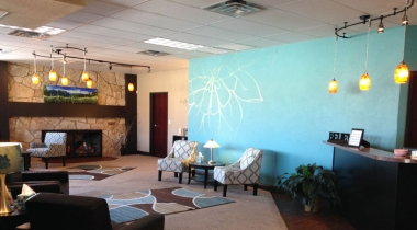 The view inside First Choice Pregnancy Center in Weatherford, Okla.