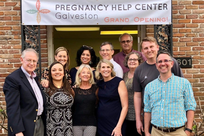 Last March, The Pregnancy Help Center of Galveston opened its doors. One year later, its served more than 140 clients, with nurse Julie Johnson (center right) as its director.