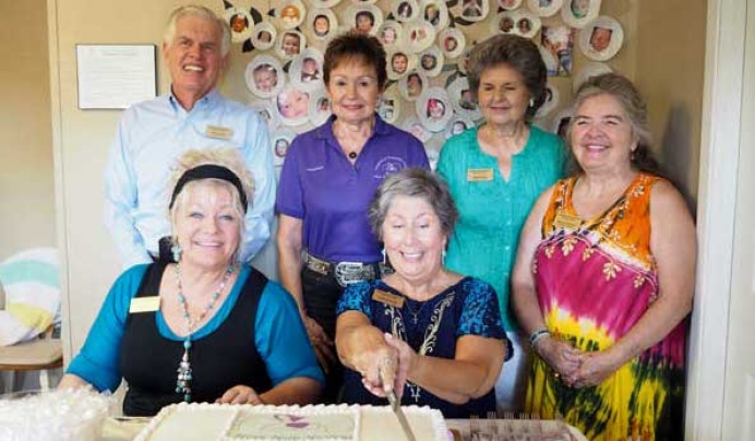 The Highland Lakes Pregnancy Resource Center in Kingsland celebrated its fifth anniversary July 14. The center provides a host of services and support for women who have had an abortion, are considering it, or who are pregnant and need assistance. Pictured are center board co-chairman Richard Goertz (back, left), volunteer Judy Breaux, volunteer coordinator Janine Grace, volunteer coordinator Nancy Cummins, co-founder Sheila Wier (front, left) and co-founder Linda Brossett.