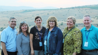 The contingent of pro-life travelers from Heartbeat International: Jor-El Godsey, president; his wife Karen; Bethany Jasper, U.S. affilaition specialist; Betty McDowell, senior director of ministry services; Terri Fox, grant specialist; and her husband Scott.