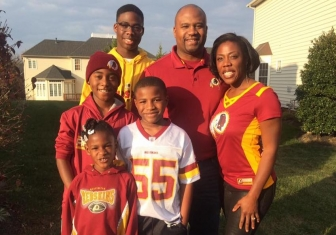 D.J. and Glorya Jordan and their family in 2016.