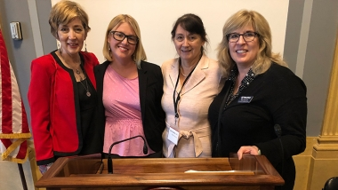 Left to Right: Cindy Collins (SpeakHope.net), Dawn Lunsford (Heartbeat International), Dr. Laura Lederer (Global Centurion), Betty McDowell (Heartbeat International)