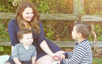 Rebekah Buell with her two sons. The youngest, Zechariah, was rescued from abortion through Abortion Pill Reversal.