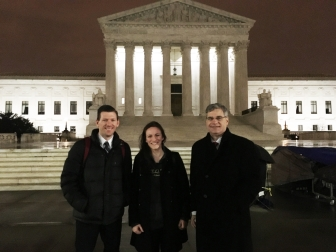 Heartbeat International's Jay Hobbs, Danielle White and Jor-El Godsey at U.S. Supreme Court.