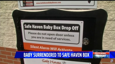 Months after student raised funds to install Indiana baby box, it saved a baby girl's life