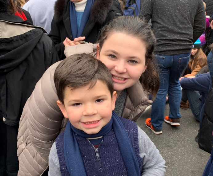 Rebekah and Zechariah at the 2020 March for Life