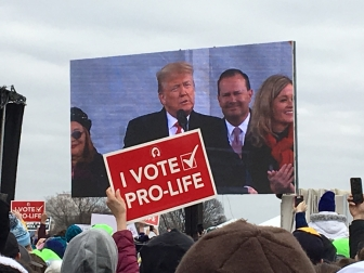 President Donald Trump addresses the 2020 March for Life rally