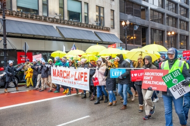 2020 March for Life Chicago crowd floods Michigan Avenue despite inclement weather