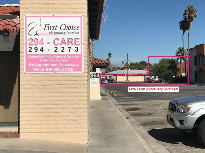First Choice Pregnancy Services has helped 27,000 women choose life next to late-term abortion mill.