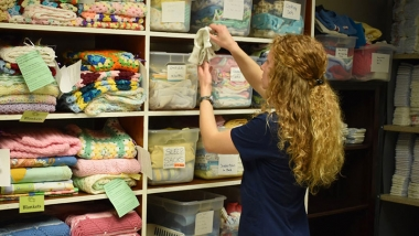 Cedarville University nursing student Stephanie Limbers volunteers at Pregnancy Resource Center of Clark County.