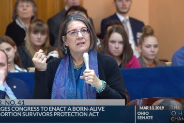 "Democratic State Senator Nickie Antonio tells the Ohio Senate, ""We should do everything we can,"" when discussing a federal bill which would protect abortion survivors once they are born."
