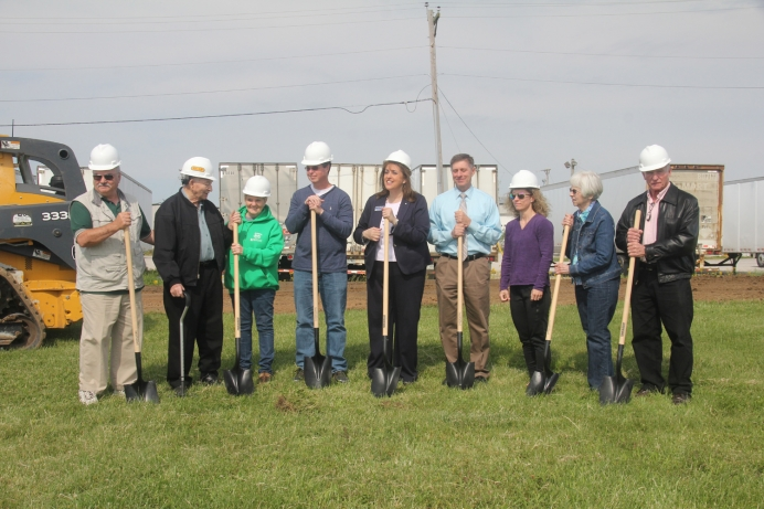 Tricia Blasdel and board members break ground for the new home of Relevant Pregnancy Options Center.