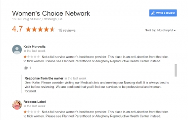 Planned Parenthood Staffers Harassing Pregnancy Centers with Fake Online Reviews