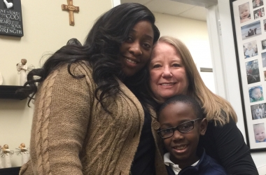 Wendy Maxey with Adriane and her son, Andrew, who she rescued from abortion 7 years ago